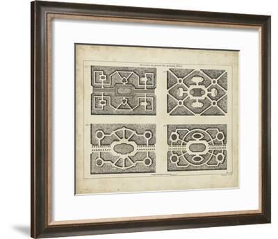 Garden Parterre VI-DeZallier d' Argenville-Framed Art Print