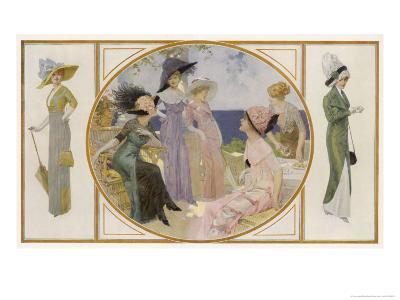 Garden Party Frocks 1911-Rene Lelong-Giclee Print