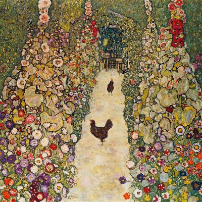 Garden Path with Chickens, 1916, Burned at Schloss Immendorf in 1945-Gustav Klimt-Giclee Print