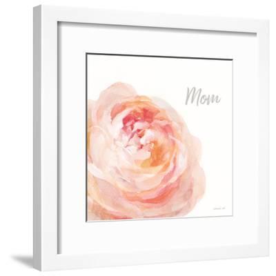 Garden Rose on White Crop II Mom-Danhui Nai-Framed Art Print