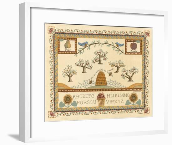 Garden Sampler II-Wendy Russell-Framed Giclee Print