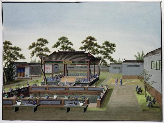 Garden scene, China, c1820-1840-Unknown-Giclee Print