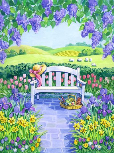 Garden Seat-Geraldine Aikman-Giclee Print