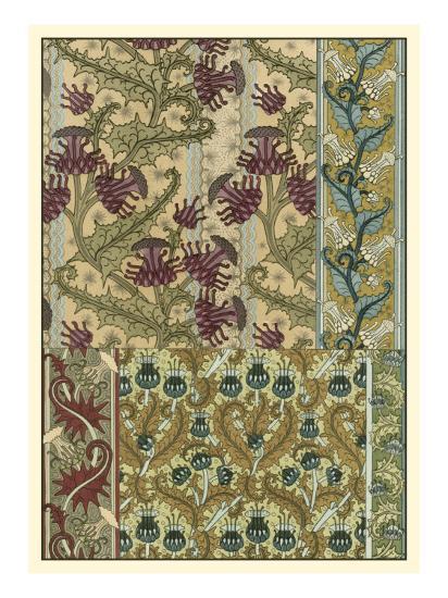 Garden Tapestry IV-Eugene Grasset-Art Print