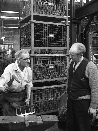 Garden Tool Production, Brades Tools, Sheffield, South Yorkshire, 1966-Michael Walters-Photographic Print