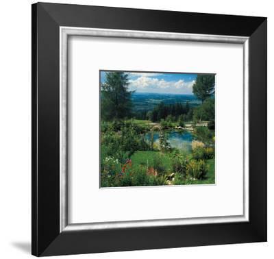 Garden With A View--Framed Art Print