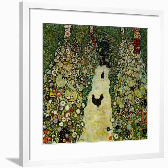 Garden with Chickens, 1916-Gustav Klimt-Framed Giclee Print