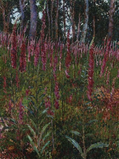 Garden with Foxgloves-Eug?ne Boudin-Giclee Print