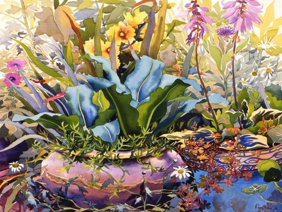 Garden with Plants, 2000-Christopher Ryland-Giclee Print