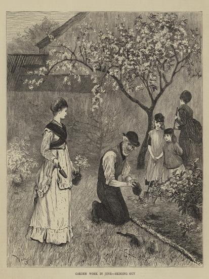 Garden Work in June, Bedding Out--Giclee Print