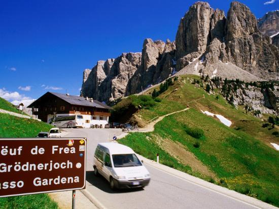 Gardena Pass, Dolomiti Di Sesto Natural Park, Italy-Richard Nebesky-Photographic Print