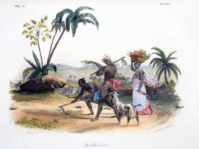 Gardeners Cultivating Vegetables, 1827-35-M^E^ Burnouf-Giclee Print