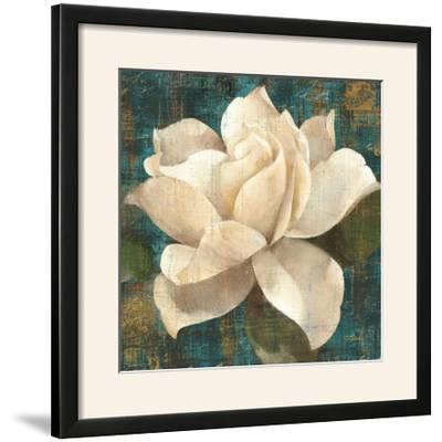 Gardenia Blossom Turquoise-Albena Hristova-Framed Photographic Print