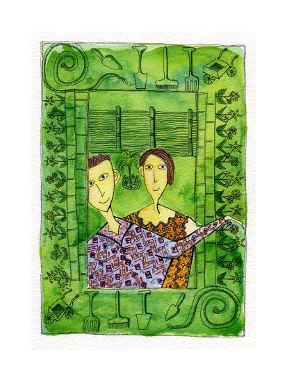 Gardening, 1990-Julie Nicholls-Premium Giclee Print