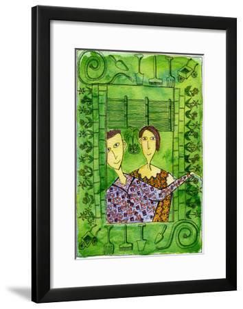 Gardening, 1990-Julie Nicholls-Framed Giclee Print