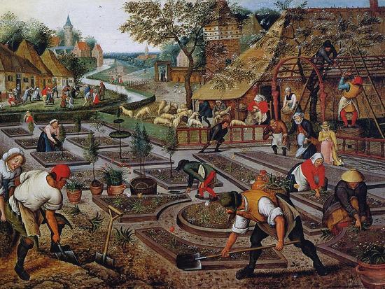 Gardening, C.1637-38-Pieter Brueghel the Younger-Giclee Print