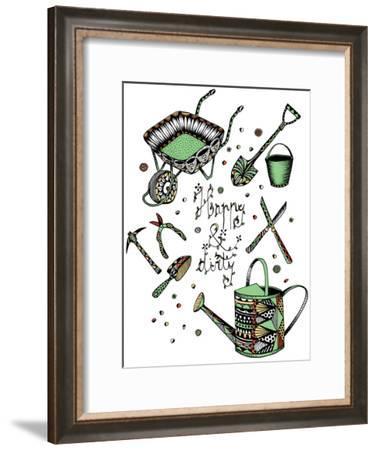 Gardening-Patricia Pino-Framed Art Print