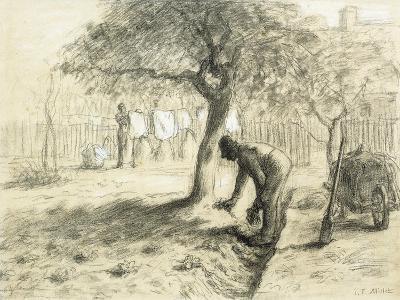 Gardening-Jean-Fran?ois Millet-Giclee Print