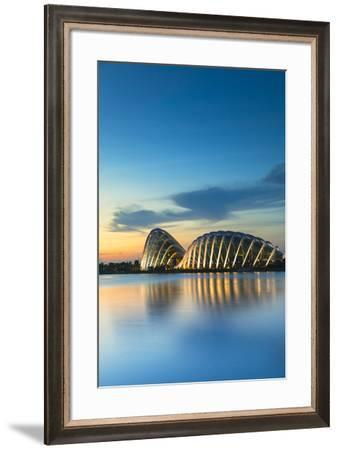 Gardens by the Bay at dawn, Singapore-Ian Trower-Framed Photographic Print