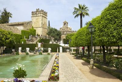 Gardens in Alcazar, Cordoba, Andalucia, Spain, Europe-Peter Barritt-Photographic Print