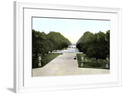 Gardens of Hampton Court Palace, London, 20th Century--Framed Giclee Print