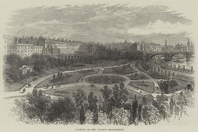 Gardens on the Thames Embankment-William Henry Pike-Giclee Print