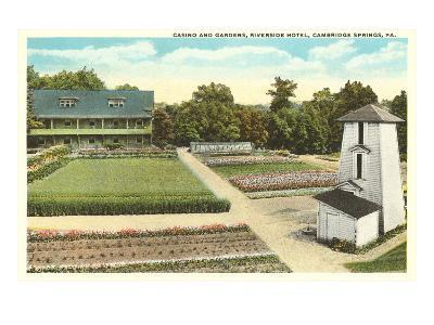Gardens, Riverside Hotel, Cambridge Springs, Pennsylvania--Art Print