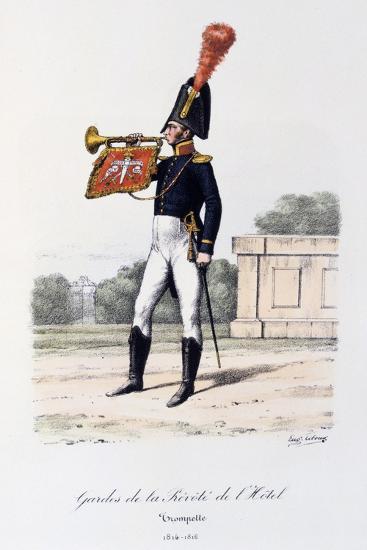 Gardes De La Prevote De L'Hotel, Trumpeter, 1814-16-Eugene Titeux-Giclee Print