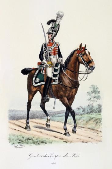 Gardes-Du-Corps De Roi, 1815-Eugene Titeux-Giclee Print