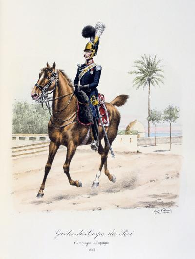 Gardes-Du-Corps De Roi, Spanish Campaign, 1823, C1814-1830-Eugene Titeux-Giclee Print