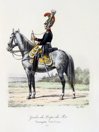 Gardes-Du-Corps De Roi, Trumpeter (Petite Tenu), 1815-Eugene Titeux-Giclee Print