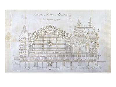Gare d'Orsay (Paris) : coupe transversale-Victor Laloux-Giclee Print