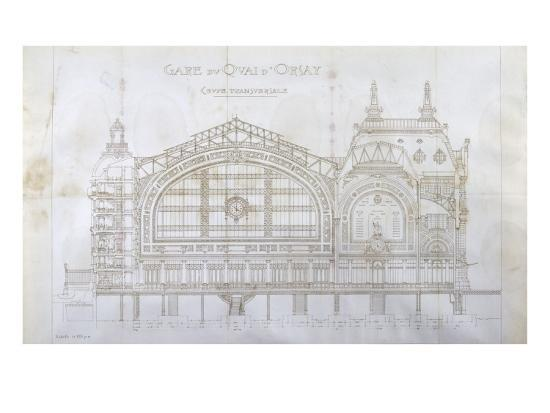 Gare d'Orsay (Paris) : coupe transversale-Victor Laloux-Giclee Print