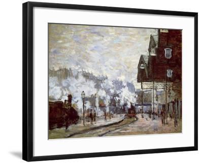 Gare Saint-Lazare, Paris, 1877-Claude Monet-Framed Giclee Print