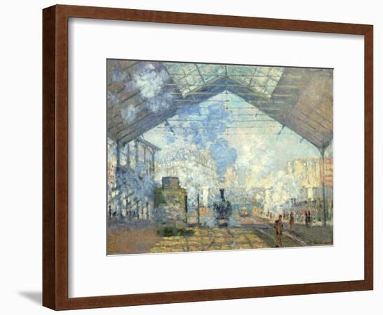 Gare Saint Lazare, Paris, 1877-Claude Monet-Framed Giclee Print