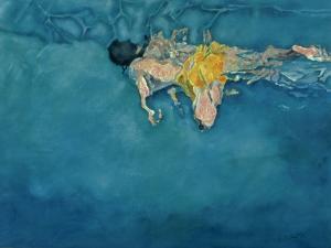 Swimmer in Yellow, 1990 by Gareth Lloyd Ball