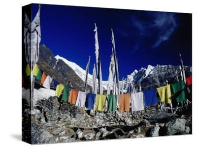 Buddhist Prayer Flags at the Kyanjin Gompa, Langtang, Bagmati, Nepal