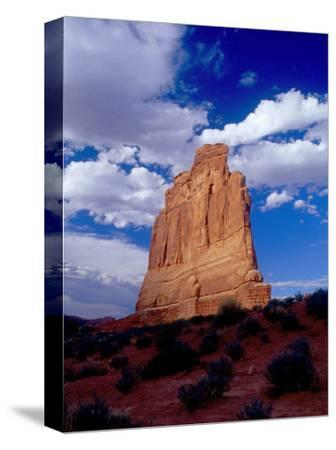 Courthouse Tower Natural Sandstone Edifice, Arches National Park, Utah, USA
