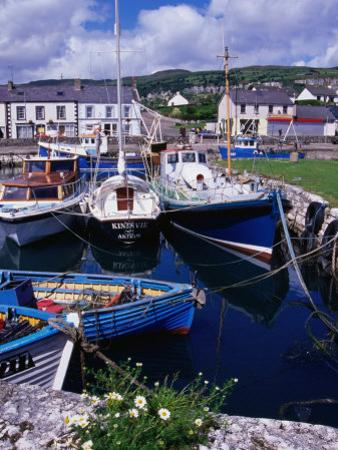 Fishing Boats Docked in Carnlough Harbour, Antrim, Northern Ireland