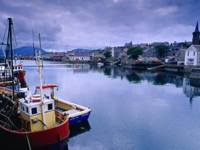 Fishing Boats in Village Harbour, Ullapool, Scotland