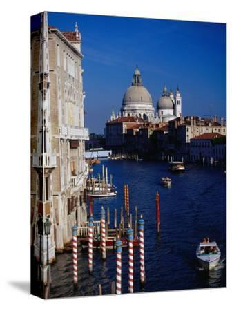 Grand Canal and Domes of Chiesa Di Santa Maria Della Salute in Distance, Venice, Italy