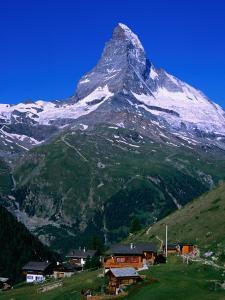 Matterhorn Towering Above Hamlet of Findeln, Valais, Switzerland by Gareth McCormack