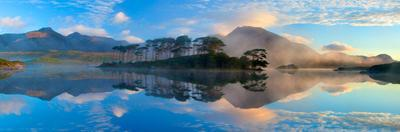 Misty Morning Reflection of the Twelve Bens in Derryclare Lough, Connemara, Co Galway, Ireland