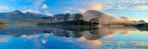 Misty Morning Reflection of the Twelve Bens in Derryclare Lough, Connemara, Co Galway, Ireland by Gareth McCormack