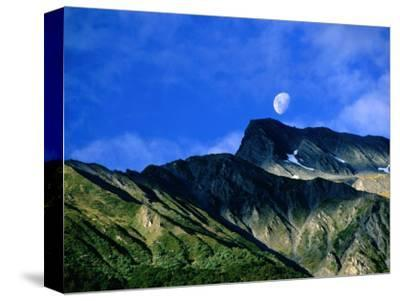 Moonrise Over Mt. Broome, Mt. Aspiring National Park, Otago, New Zealand