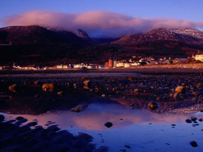 Newcastle Seafront and the Mourne Mountains at Dawn, Newcastle, Northern Ireland