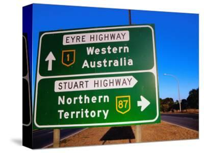 Road Sign for Eyre and Stuart Hghways, Australia