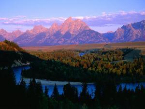 Teton Mountains from Snake River Overlook, Grand Teton National Park, Wyoming, USA by Gareth McCormack
