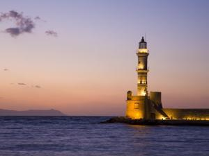 Venetian Lighthouse at Entrance to Hania Harbour by Gareth McCormack