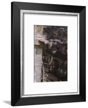 Gargoyle on tower, York Minster, 1958-CM Dixon-Framed Photographic Print